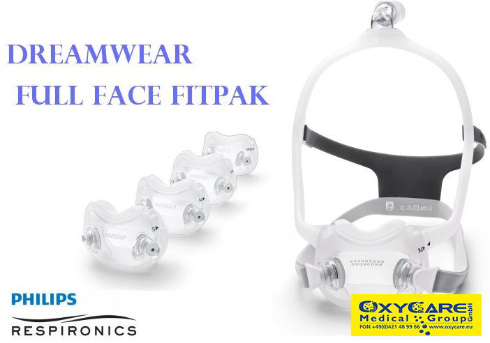 Philips Respironics, DreamWear Full Face Fitpack Maske CPAP